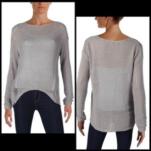 Cupcakes and Cashmere Distressed Zipper Sweater